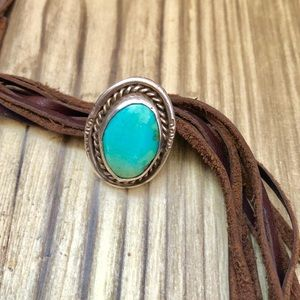 1960's Sleeping Beauty Turquoise Ring